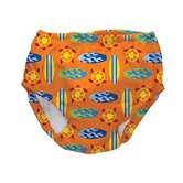 Swim Diaper Cover in Orange Geo Surfboards