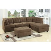Bobkona Suede Sectional