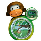 Momo Clock in Green / Yellow