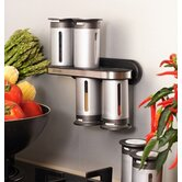 Zero Gravity 8 Piece Wall Mount Magnetic Spice Rack Set