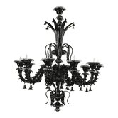 Venetn Noir 10 Light Chandelier