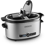 6 Quart Slow Cooker with Hinged Lid