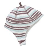 Sherpa Striped Ear Flap Hat