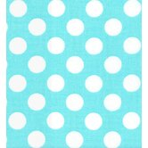 Gus Full Nursery Fitted Crib Sheet in Turquoise Dot