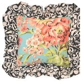 Lucy Victoria Full Nursery Floral Pillow with Ruffle