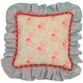 Lily Matilda Full Nursery Cream Floral Pillow with Ruffle