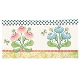Hand Painted Wall Art Zinnia Garden