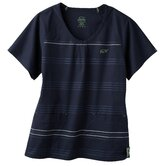 5677 2-Pocket MedFlex II Stripe Top in Newport Navy