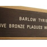 Lettering on Bronze Plaque (Each Letter)