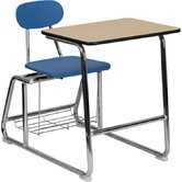 "Hercules Series Natural Laminate 32.25"" Student Combo Desk"
