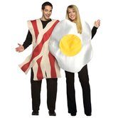 Bacon and Eggs Couples Adult Costume