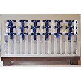 Flat Panel Crib Skirt in Pure White