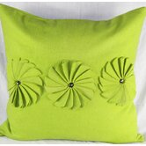 Felt Pinwheels Pillow in Green