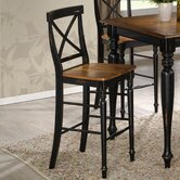 Gatlinburg Cross Back Bar Stool