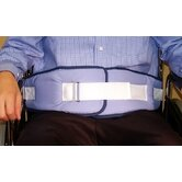 Resident-Release Cushion Belt with Velcro Closure in Light Blue