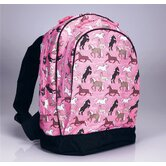 Horses in Pink Backpack