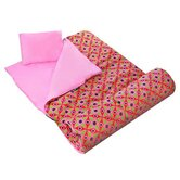 Kaleidoscope Sleeping Bag in Pink
