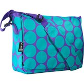 Big Dots Aqua Kickstart Messenger Bag