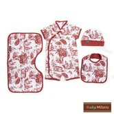 4 Piece Baby Gift Set in Burgundy Toile