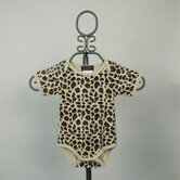Short Sleeve Infant Bodysuit in Leopard Print