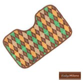 Burp Cloth in Brown Argyle