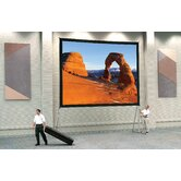 Dual Vision Heavy Duty Deluxe Fast Fold Complete Front and Rear Projection Screen - 6' x 8'