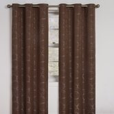 Meridian Grommet Blackout Window Panel in Chocolate