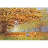 Autumn Leaves Winnie the Pooh Wall Art