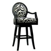 Black Frame Zebra Barstool (Tall)