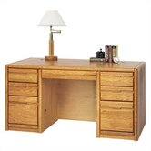 Contemporary 7-Drawer Executive Desk