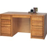"60"" Contemporary 7-Drawer Executive Desk"