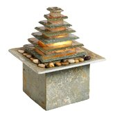 1 Light Indoor/Outdoor Slate Fountain with Light