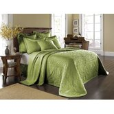 King Charles Matelasse Bedspread Bedding Collection in Fern