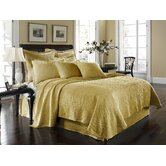 King Charles Matelasse Coverlet Bedding Collection in Sunshine