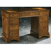 Pedestal Desk with Oval Inlay