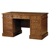 Leather Inlay 56&quot; Pedestal Desk