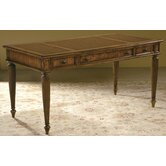 Urban Executive Table Desk with Leather Inlay