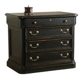 Dawson Executive Lateral File Cabinet with Leather Inlay