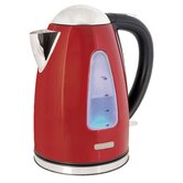 360 Rapid Boil 1.7 Litre Cordless Kettle in Red Steel