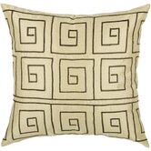 "T-3505 18"" Decorative Pillow in Light Gold / Brown"