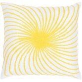 "T-3584 18"" Decorative Pillow in White / Yellow"