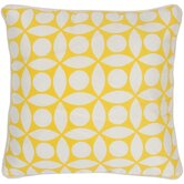 "T-3599 18"" Decorative Pillow in Off White / Yellow"