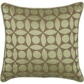 "T-3600 18"" Decorative Pillow in Off Green / Brown"