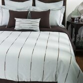 Elle Bedding Set in Light Blue / Chocolate