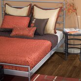 Cali Quilted Reversible Cap Bedding Set in Rust / Brown