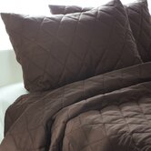 Solid Quilt 3 Piece Quilt Set in Brown