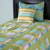 Kids Plaid Comforter Bed Set