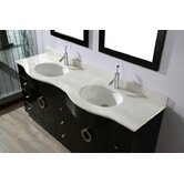 "Zed 72"" Double Bathroom Vanity"