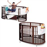 Sleepi System II: Crib and Junior Bed Set in Walnut