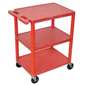 32.5'' 3 Shelf Utility Cart